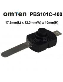 Omten PBS101C-400 17.3mm(L) x 12.3mm(W) x 10mm(H) LED Flashlight Clicky Switch (5 pcs)