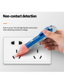 Non-Contact AC Voltage Detector Pen - Blue (1 pc)