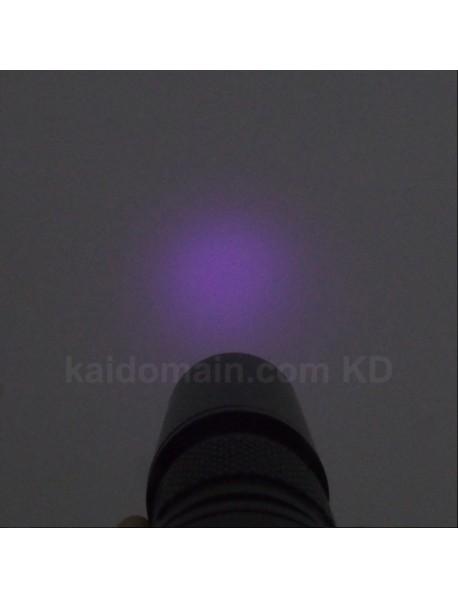 UF C3 365nm/395nm 1-Mode UV Flashlight - Black (1 x 14500 / 1 x AA)